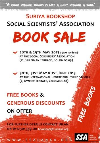 Suriya Bookshop Book Sale: 28th May – 1st June
